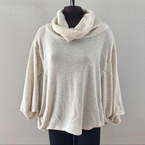 Love In cream cowl neck bat wing sweater medium